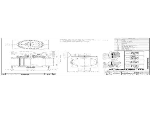 30 to 48in FLG Exposed Wormgear Handwheel