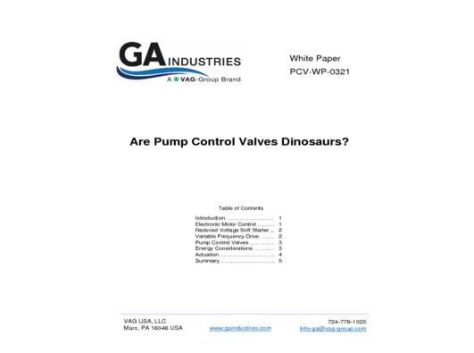 Are Pump Control Valves Dinosaurs - 3-22-21
