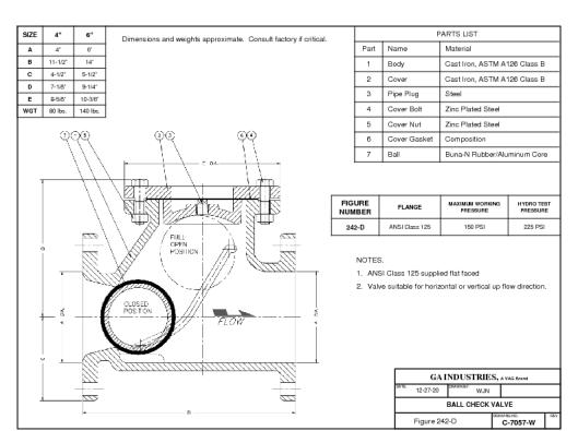 C7057-W Ball Check