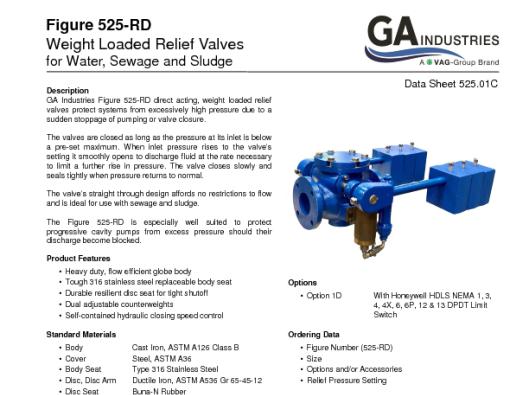 Fig 525RD Data Sheet 525-01C
