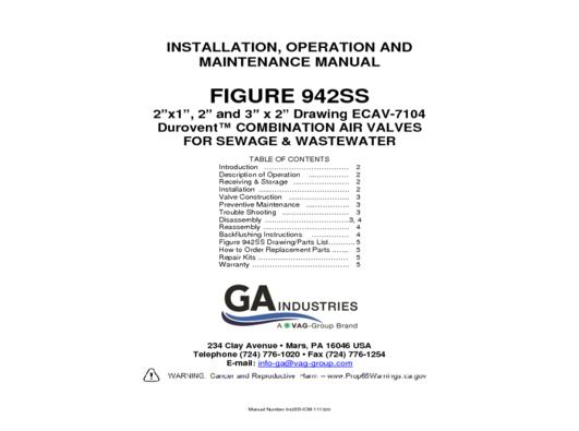 Figure 942SS IOM 110320