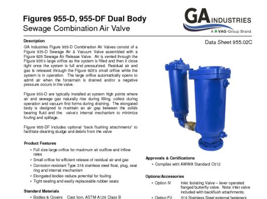 Figure 955-D Data Sheet 955-02C