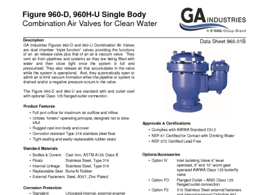 Figure 960 Data Sheet 960-01B