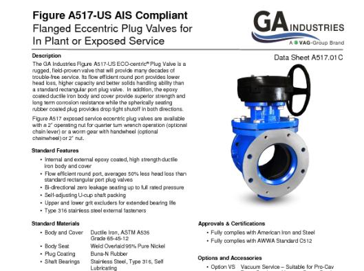 Figure A517-US FLG Data Sheet A517-01C