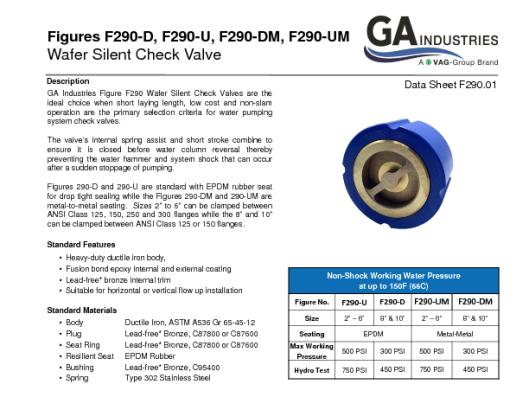 Figure F290 Data Sheet F290-01
