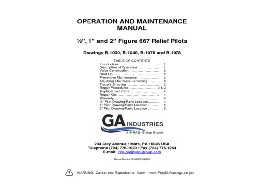 IOM-Relief Pilots
