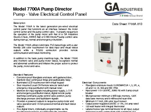 Model 7700A Data Sheet 7700A-01B
